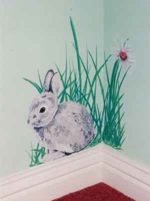 Rabbit Mural in baby's room