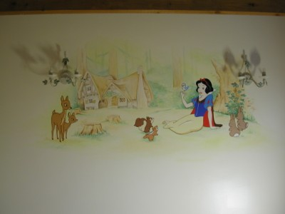 Mural on other room in girls bedroom