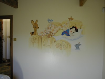 Another view of girls room  mural