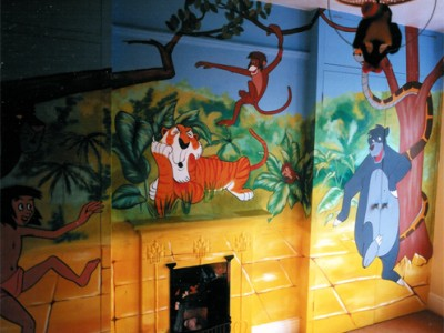 JUngle Book mural in childrens bedroom