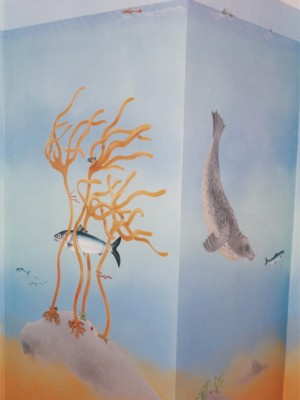 Underwater mural in child's room