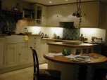 A newly fitted kitchen painted in an egg shell finish