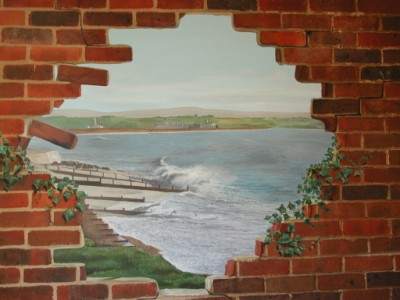 Hole in the wall mural