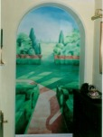 Open up a room or conservatory with a trompe l'oeil scene
